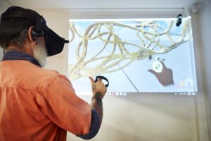Modelling a facade element using virtual reality (image courtesy UAP)